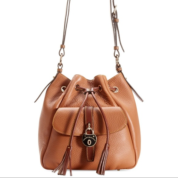 70ef11f792 Dooney   Bourke Handbags - Dooney   Bourke Samba Brown Leather Drawstring  Bag